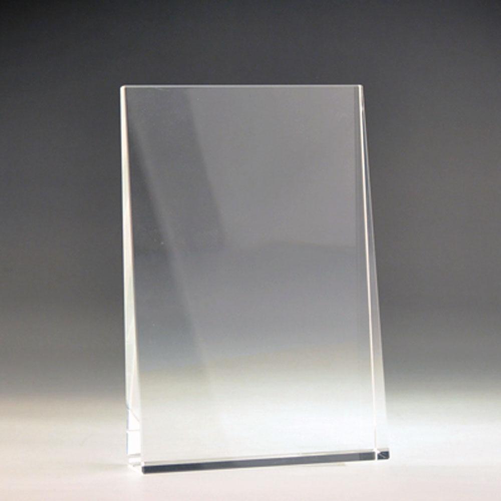 Blank crystal wedge award by Etchcraft