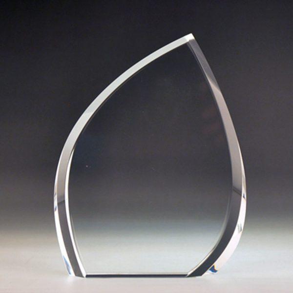Blank Crystal Leaf award by Etchcraft