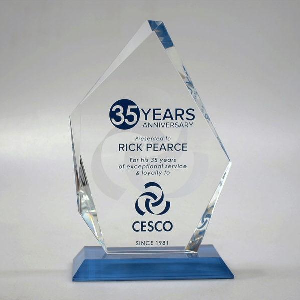 Blank Crystal Icepeak award by Etchcraft
