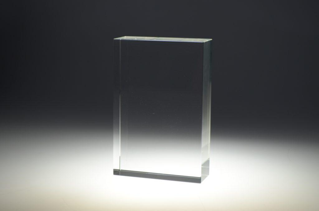 Blank crystal block by Etchcraft
