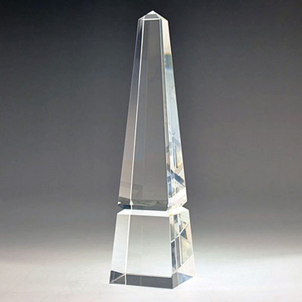 Obelisk Blank Crystal award by Etchcraft