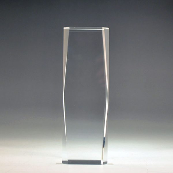 Blank crystal Cut Tower award by Etchcraft