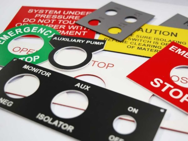 Lazer engraved switch labels by Etchcraft