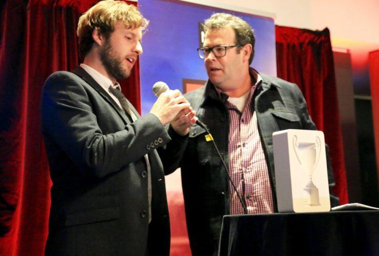 Bespoke B&T ecostone award by Etchcraft