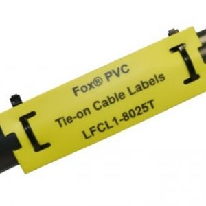 Lazer engraved cable labels by Etchcraft