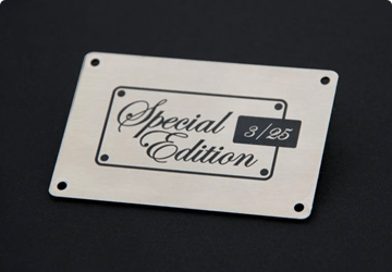 Lazer engraved labels by Etchcraft