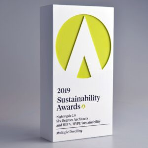 Bespoke Indesign ecostone award by Etchcraft