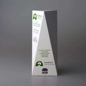 Blank Ecostone Tall Prism Award by Etchcraft