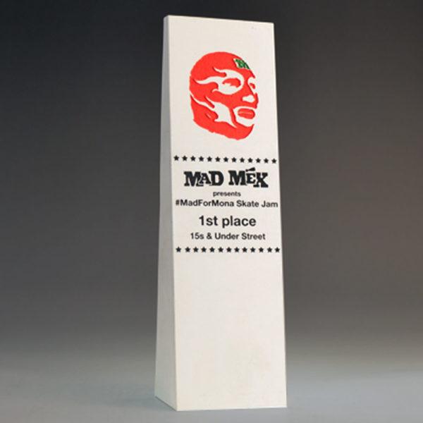 Blank Ecostone Tall Wedge Award by Etchcraf