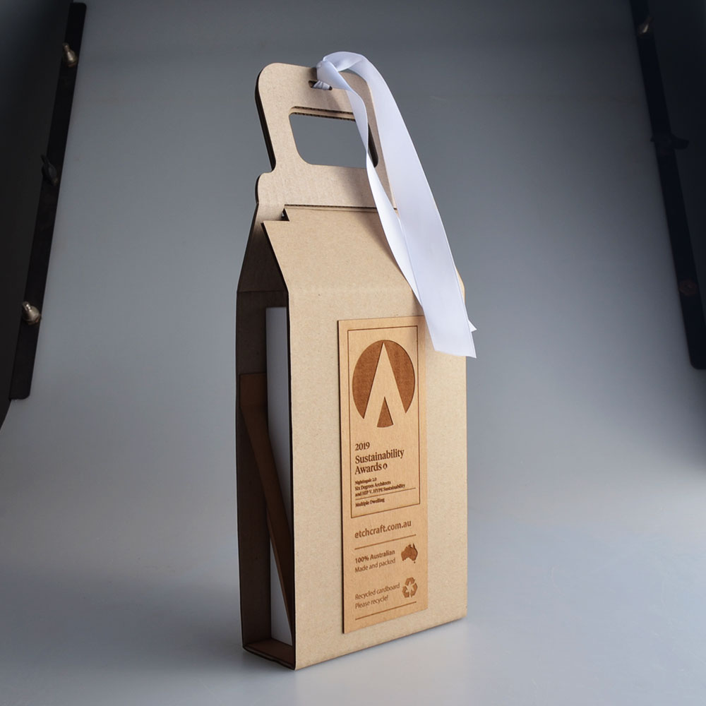 Recycled Packaging for Indesign by Etchcraft