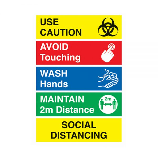 Covid 19 safety labels by Etchcraft