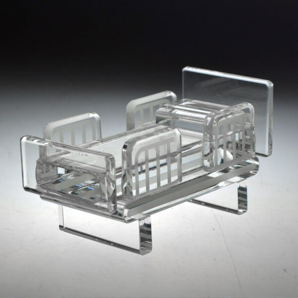 Crystal bed award by Etchcraft