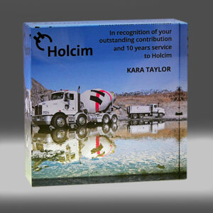 Holcim digital print award by Etchcraft