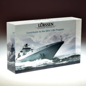 Lurssen digital print award by Etchcraft
