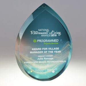 Property Council Retirement awards digital print award by Etchcraft