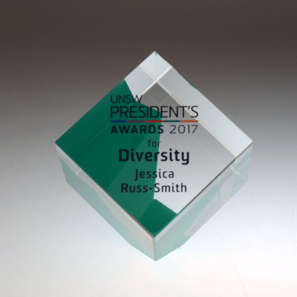 UNSW cube award by Etchcraft