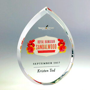 Young Living hawaii awards digital print award by Etchcraft