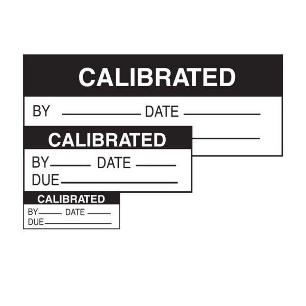 Calibration labels by Etchcraft