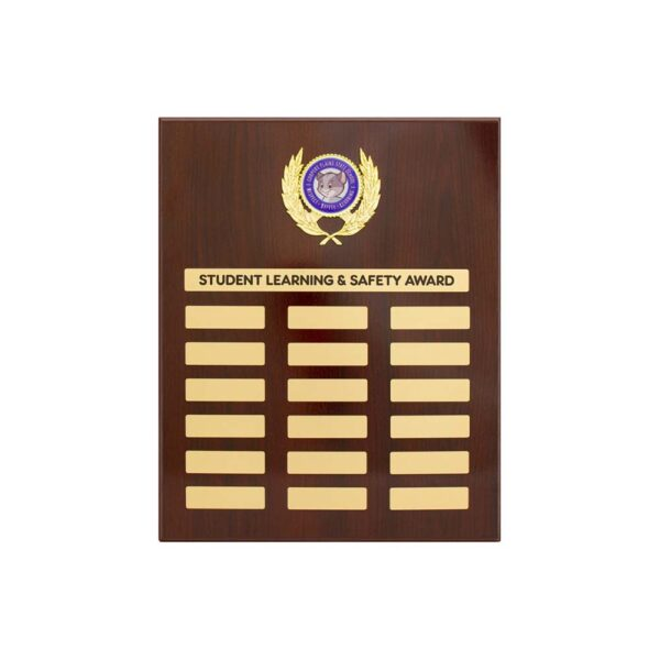 School Perpetual plaque by Etchcraft