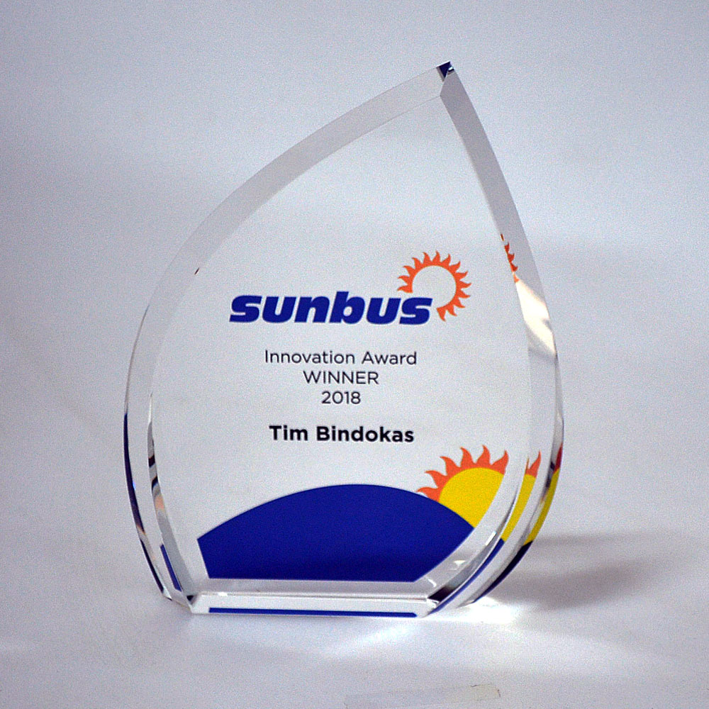 Surfside Sunbus awards digital print award by Etchcraft