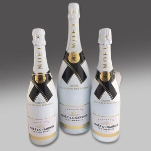AMEX Moet bottle engraving by Etchcraft