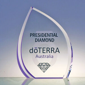 Doterra leaf award by Etchcraft