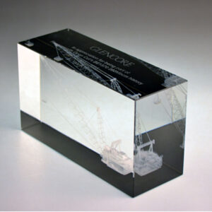 Glencore 3D block award by Etchcraft