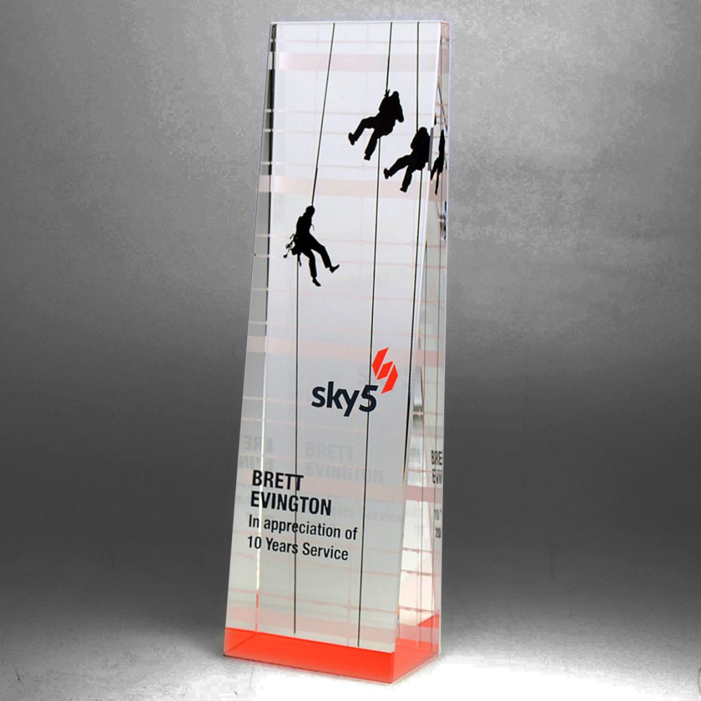 Sky5 crystal award by Etchcraft
