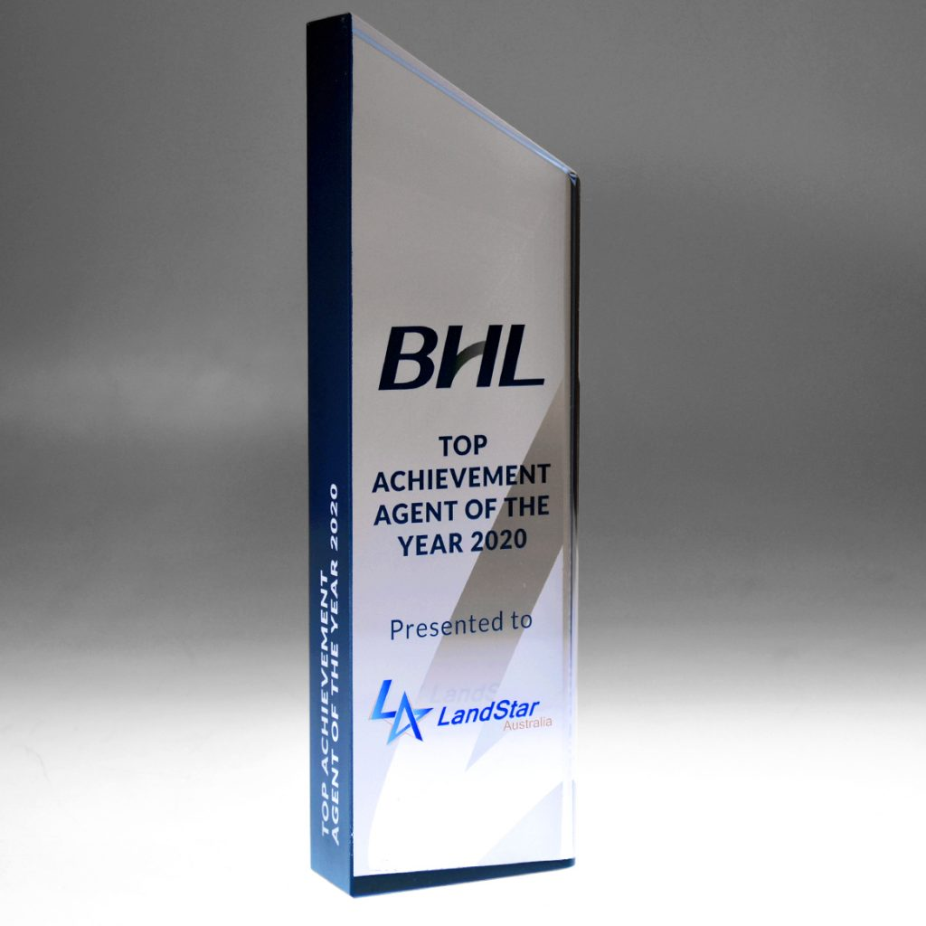 BHL Crystal Accent award by Etchcraft